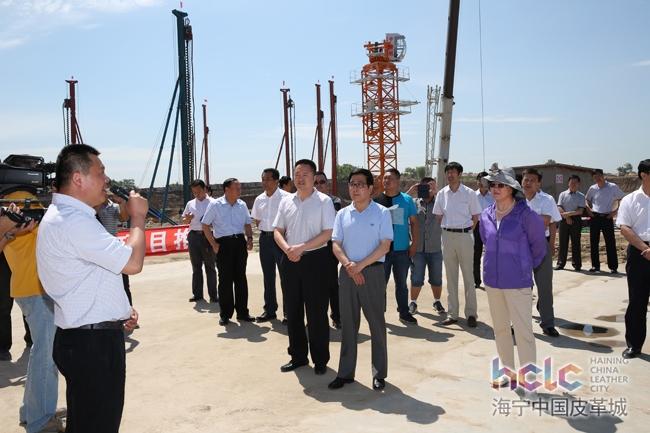 哈尔滨市委书记林铎,市人大主任王颖一行视察哈尔滨海宁皮革城项目